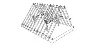 Dachkonstruktion Pfettendach