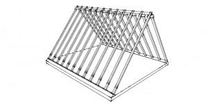 Dachkonstruktion Sparrendach